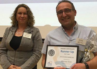 Hallett Cove Business Association Award Best Tradie runner up Midcoast Tyres