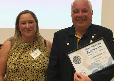 Hallett Cove Business Association Award Community Service runner up Lions Club