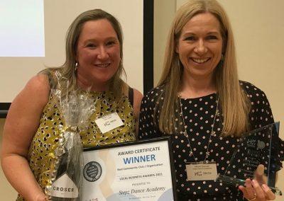 Hallett Cove Business Association Award Community Service winner Stepz Dance Academy